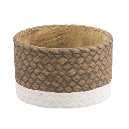 """Picture of Two-Tone Basketweave Dish 4.5"""""""
