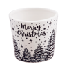 """Picture of Black and White Merry Christmas Planter 4.25"""""""