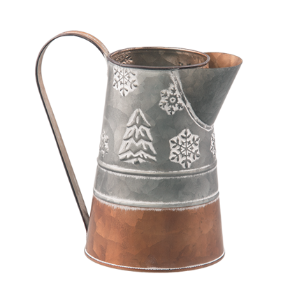 Picture of Copper and Galvanized Pitcher with Holiday Designs