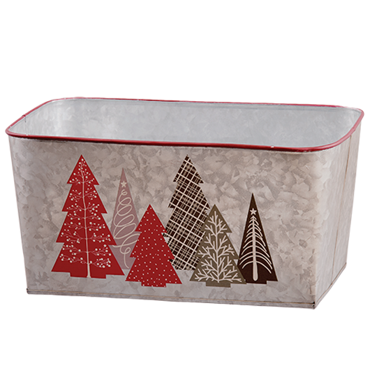 """Picture of Patterned Christmas Tree Planter 12"""""""