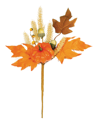 """Picture of Fall Theme Pumpkin Acorn Berry  Pick (11"""")"""