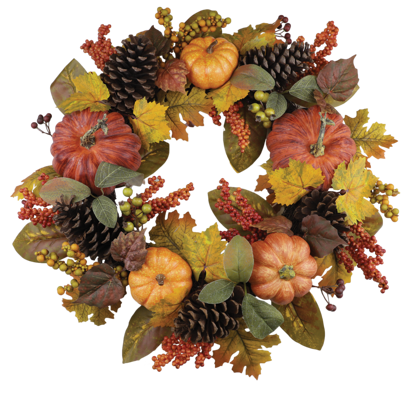 """Picture of Autumn Bounty  Wreath (24"""")"""