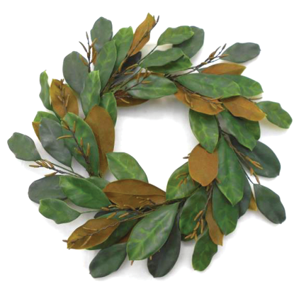 """Picture of Deep Green Magnolia  Wreath (24 Stems, 24"""")"""