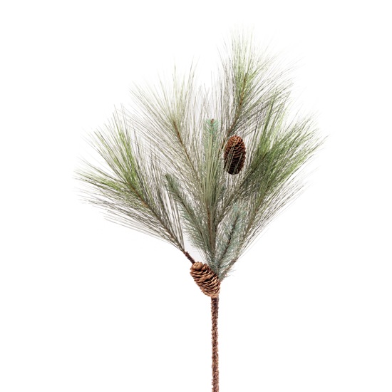 "Picture of Evergreen Spray-Colorado Pine with Cones (28"")"