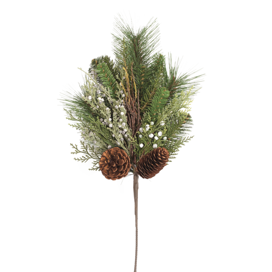 """Picture of Evergreen Spray-Mixed Pine with Cones (19"""")"""
