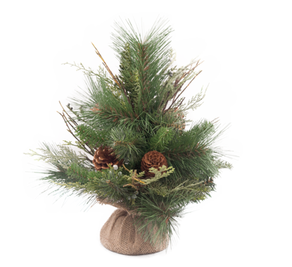 """Picture of Evergreen Tree-Mixed Pine with Cones & Berries (24 Branches, 12"""")"""