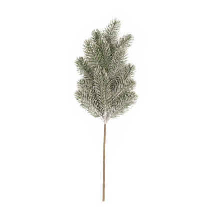 """Picture of Evergreen Spray-Frosty Pine (13 Branches, Plastic, 19.5"""")"""
