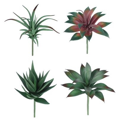 Picture of Greenery Picks-Succulent (Plastic, 4 Assorted)