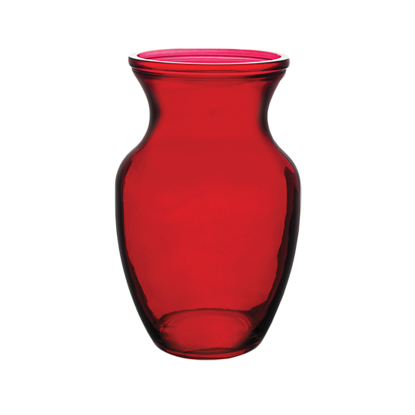 """Picture of 8"""" Rose Vase-Ruby"""
