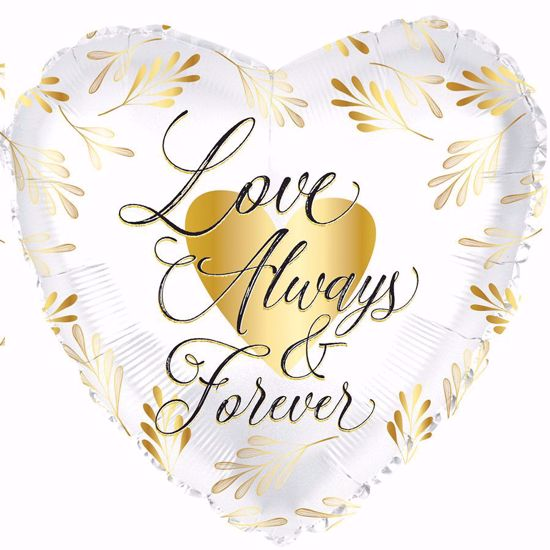 """Picture of 17"""" 2-Sided Foil Balloon: Love Always and Forever"""