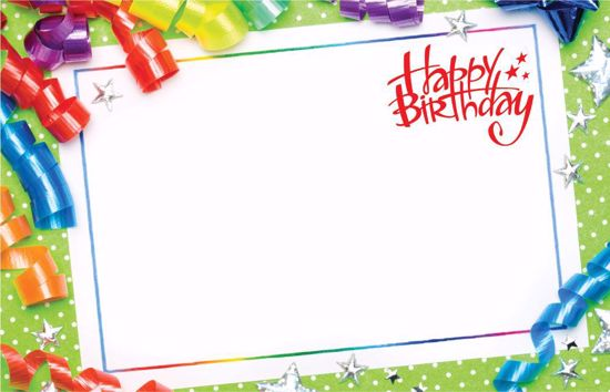 Picture of Happy Birthday Enclosure Card
