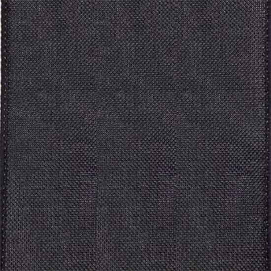 Picture of #9 Linen Canvas Wired Ribbon- Black