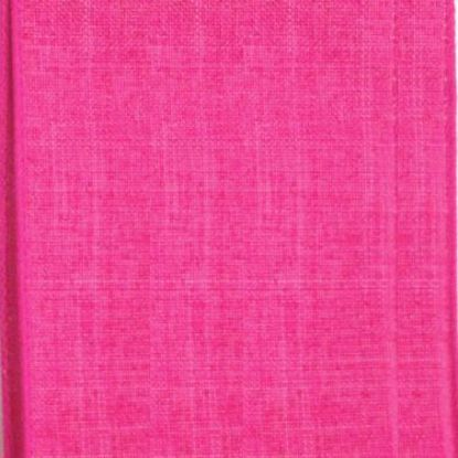 Picture of #9 Linen Canvas Wired Ribbon- Hot Pink