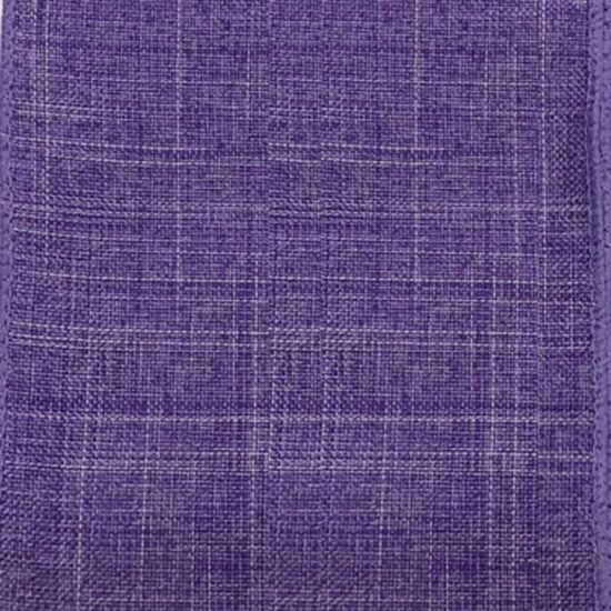 Picture of #9 Linen Canvas Wired Ribbon- Lavender