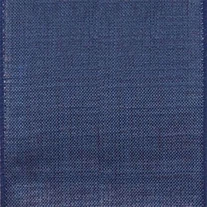 Picture of #9 Linen Canvas Wired Ribbon- Navy