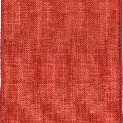 Picture of #9 Linen Canvas Wired Ribbon- Rust