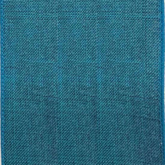 Picture of #9 Linen Canvas Wired Ribbon- Teal