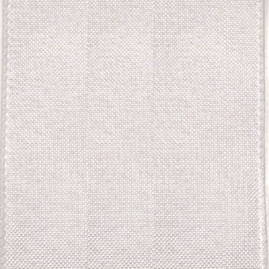 Picture of #9 Linen Canvas Wired Ribbon- White