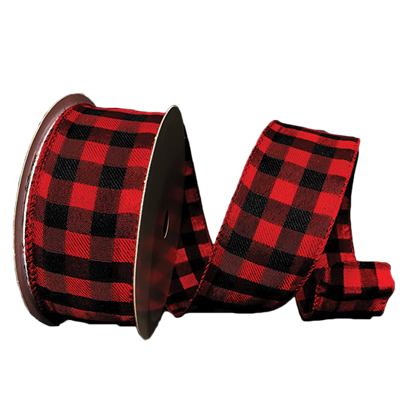 Picture of #40 Wired Edge Ribbon- Buffalo Plaid