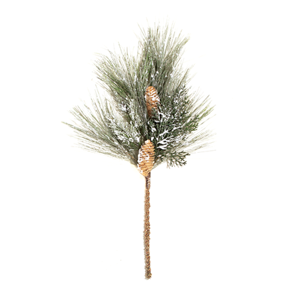 """Picture of Evergreen Spray-Frosted Mixed Pine with Cedar Cones (Plastic, 24"""")"""