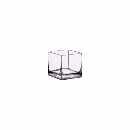 """Picture of Syndicate Sales  3"""" Square Glass Votive-Clear"""