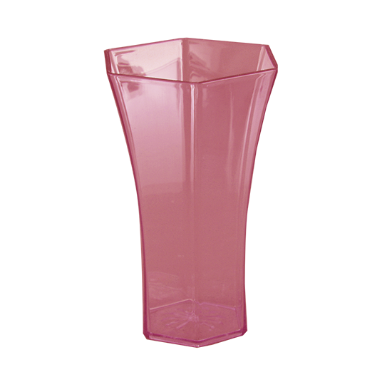 """Picture of Diamond Line 10"""" Rose Vase - Pink Ice"""