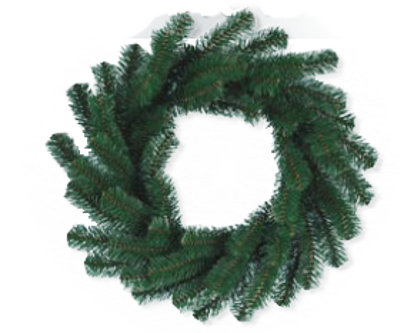 """Picture of Evergreen Wreath-Noble Pine (16"""")"""