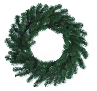 """Picture of Evergreen Wreath-Noble Pine (20"""")"""