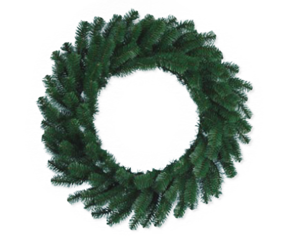 """Picture of Evergreen Wreath-Noble Pine (24"""")"""